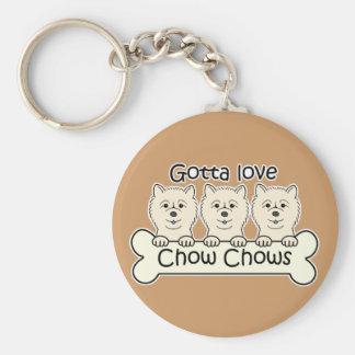 Three Chow Chows Keychain