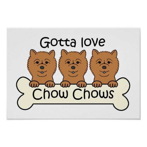 Three Chow Chows Print