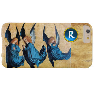 THREE CHRISTMAS ANGELS IN BLUE PARCHMENT MONOGRAM BARELY THERE iPhone 6 PLUS CASE