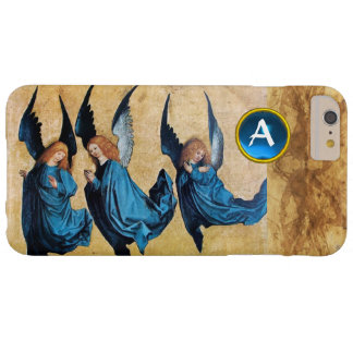 THREE CHRISTMAS ANGELS IN BLUE PARCHMENT MONOGRAM iPhone 6 PLUS CASE