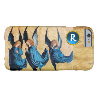 THREE CHRISTMAS ANGELS IN BLUE PARCHMENT MONOGRAM iPhone 6 CASE