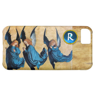 THREE CHRISTMAS ANGELS IN BLUE PARCHMENT MONOGRAM iPhone 5C COVER