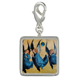 THREE CHRISTMAS ANGELS IN BLUE PHOTO CHARMS