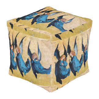THREE CHRISTMAS ANGELS IN BLUE POUF