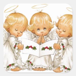 Three Christmas Angels Square Sticker