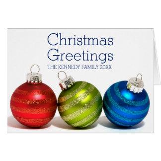 Three Christmas balls Card