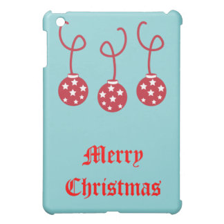 Three Christmas Baubles with stars iPad Mini Covers