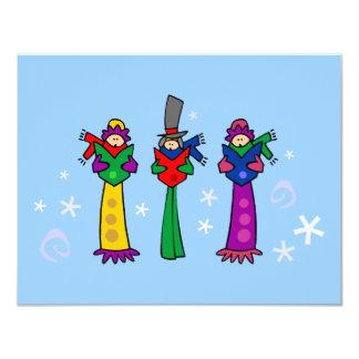 Three Christmas Carolers Invitation