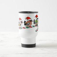 Three Christmas Songbirds (EU) Travel / Commuter Mug