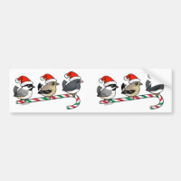 Three Christmas Songbirds (US) Bumper Sticker
