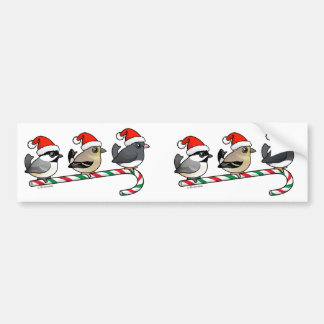 Three Christmas Finches (US) Bumper Sticker