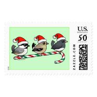 Three Christmas Songbirds (US) Large Stamp 2.5