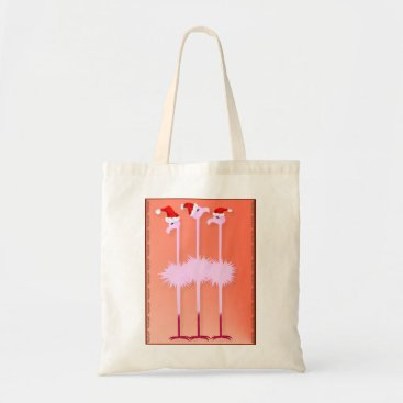 Christmas Themed Three Christmas Flamingos Bags
