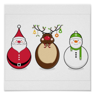 Three Christmas Friends Poster