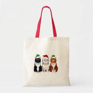 Three Christmas Kitties Bag