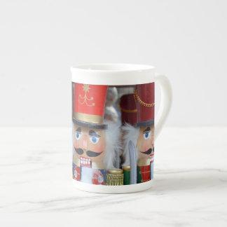 Three christmas nutcrackers print tea cup
