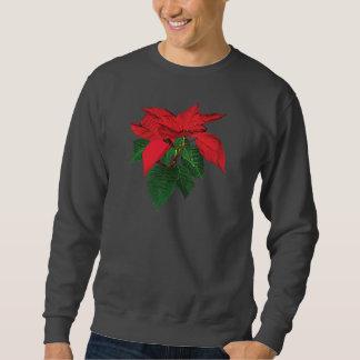 Three Christmas Poinsettias Mens Sweatshirt