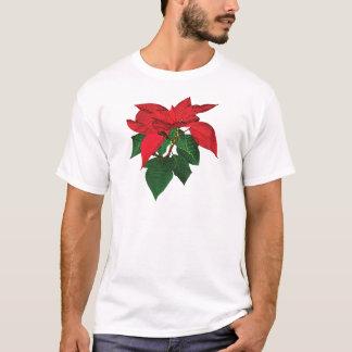 Three Christmas Poinsettias Mens T-Shirt