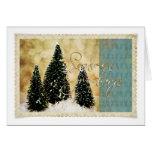 Three Christmas Trees Greeting Cards