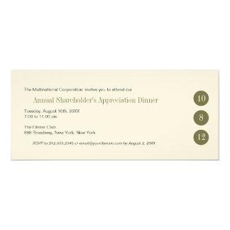 """Three Circles Corporate Invitation 4"""" X 9.25"""" Invitation Card"""