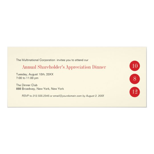 Three Circles Corporate Invitation