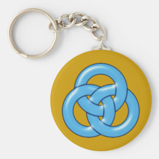 Three circles intertwined three circles interwoven keychain
