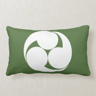 Three clockwise swirls (Jinuki) Lumbar Pillow
