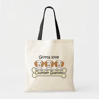 Three Clumber Spaniels Canvas Bag