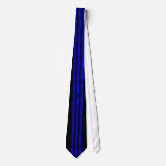 Three Cobalt Plasma Lines Neck Tie