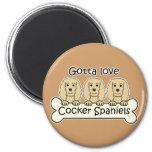 Three Cocker Spaniels Fridge Magnet