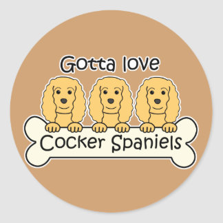 Three Cocker Spaniels Stickers