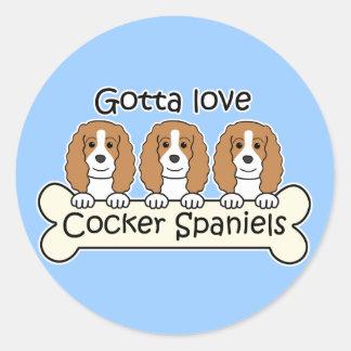 Three Cocker Spaniels Sticker