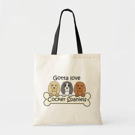 Three Cocker Spaniels Tote Bag