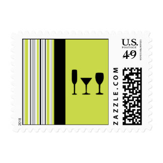 Three Cocktails Postage Stamps