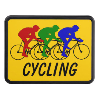 Three Color Cyclists Trailer Hitch Cover