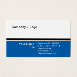 Three color simple business card (blue)
