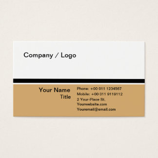 Three color simple business card (pale brown)