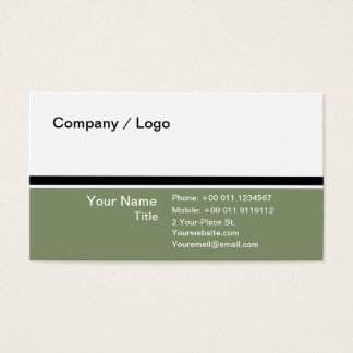 Three color simple business card (pale green)