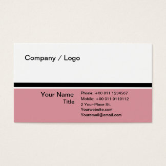 Three color simple business card (pink)