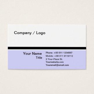 Three color simple business card (purple )