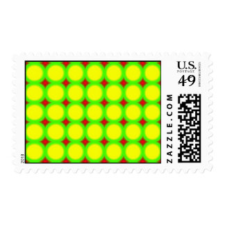 Three colored Circle Pattern Postage
