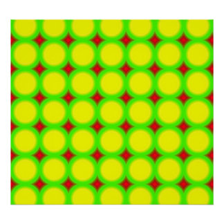 Three colored Circle Pattern Poster