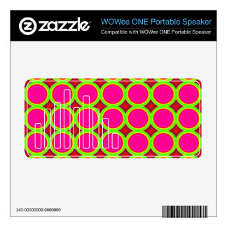 Three colored Circle Pattern Decals For WOWee Speakers