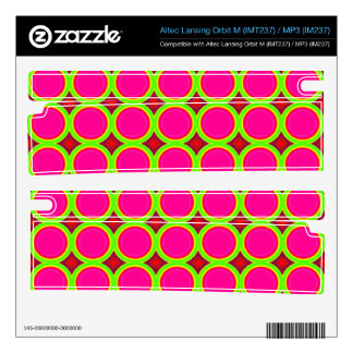 Three colored Circle Pattern Decal For Orbit M Speaker