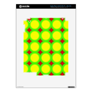Three colored Circle Pattern Decal For iPad 3