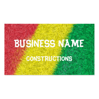 Three colored furry pattern Double-Sided standard business cards (Pack of 100)