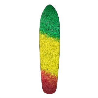 Three colored furry pattern skate decks