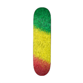 Three colored furry pattern skate board deck