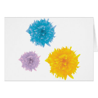 Three Colorful Blooms Greeting Card