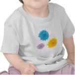 Three Colorful Blooms Tee Shirt